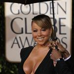 Mariah Carey Golden Globes Breasts 2010 53502