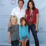 Cindy Crawford Rande Gerber and children Presley and Kaya at Varvatos 6th Annual Stuart House Benefit Presented by Converse  18279