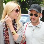 Claudia Schiffer and Matthew Vaughn make a show of togetherness at the school run 87990