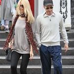 Claudia Schiffer and Matthew Vaughn make a show of togetherness at the school run 87996