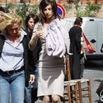 Elisabetta Canalis in Rome shooting a movie 57182