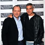George Clooney at the Men Who Stare At Goats photo call with Kevin Spacey 48701