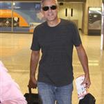 George Clooney catches a flight out of Washington, D.C.  112817