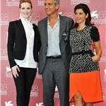 George Clooney at the Venice Film Festival for Ides of March with Evan Rachel Wood and Marisa Tomei 93065