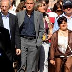 George Clooney and Bill Murray visit earthquake region L'Aquila, Italy during G8 Summit 42709