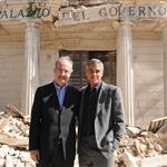 George Clooney and Bill Murray visit earthquake region L'Aquila, Italy during G8 Summit 42712