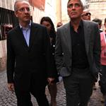 George Clooney and Bill Murray visit earthquake region L'Aquila, Italy during G8 Summit 42713