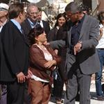 George Clooney and Bill Murray visit earthquake region L'Aquila, Italy during G8 Summit 42706