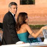 George Clooney and Elisabetta Canalis at the Venice Film Festival 47829
