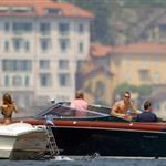 Matt Damn, Brad Pitt, Jennifer Aniston, and George Clooney at Lake Como on June 8, 2004 119286