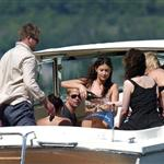 Matt Damn, Brad Pitt, Jennifer Aniston, and George Clooney at Lake Como on June 8, 2004 119289