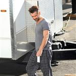 Colin Farrell on the set of Seven Psychopaths in Los Angeles 101716