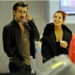 Colin Farrell arrives at LAX with sister Claudine January 2011 76563
