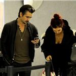 Colin Farrell arrives at LAX with sister Claudine January 2011 76565