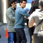 Colin Farrell on set of Total Recall in Toronto  87495