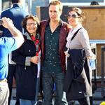 Sam Rockwell on set of Seven Psychopaths 101210