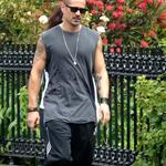Colin Farrell goes for a walk in Ireland with his sister  119920