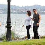 Colin Farrell goes for a walk in Ireland with his sister  119944