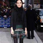 Jennifer Connelly at Letterman in Balenciaga 53206