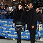 Jennifer Connelly at Letterman in Balenciaga 53210