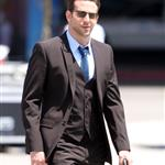 Bradley Cooper looks great in a suit on the set of Valentine's Day 42530
