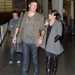Lea Michele with Cory Monteith at JFK airport NYC 109752