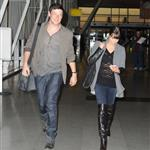 Lea Michele with Cory Monteith at JFK airport NYC 109756