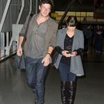 Lea Michele with Cory Monteith at JFK airport NYC 109758
