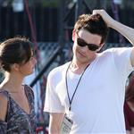 Cory Monteith flirts with tall girl at Coachella  83387