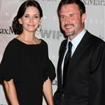 Courteney Cox with David Arquette at Crystal + Lucy Awards June 2010 62387