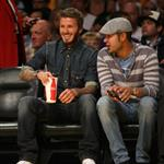 David Beckham at the Lakers game 49543