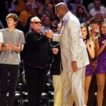 Jack Nicholson at the Lakers game   49546