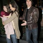 Tom Cruise and Katie Holmes in New York for dinner with Jon Bon Jovi to prep for Rock of Ages  83138