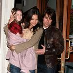 Tom Cruise and Katie Holmes in New York for dinner with Jon Bon Jovi to prep for Rock of Ages  83142