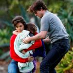 Tom Cruise with Katie Holmes and Suri at a park in Australia 44906