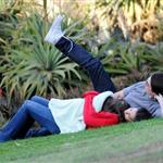 Tom Cruise with Katie Holmes and Suri at a park in Australia 44907