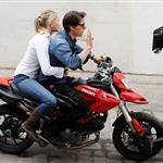 Tom Cruise shoots on a bike with Cameron Diaz 51892