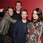 Macaulay Culkin, Matthew Senreich, Seth Green and Clare Grant attend the 2012 Adult Swim Upfront Party at Roseland Ballroom 118173