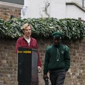 Benedict Cumberbatch gets a parking ticket in London 101748