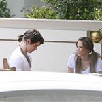 Miley Cyrus giving orders to Justin Gaston 38232