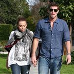Miley Cyrus walks with Liam Hemsworth 55873