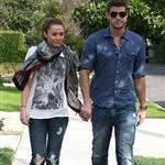 Miley Cyrus walks with Liam Hemsworth 55875