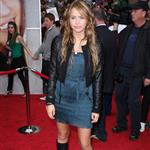 Miley Cyrus and Billy Ray Cyrus at the premiere of the Hannah Montana movie 36123