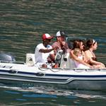 Matt Damon and Don Cheadle with their families on holiday at Clooney's at Lake Como 44086