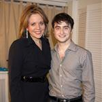 Daniel Radcliffe backstage after a performance of How To Succeed In Business Without Really Trying on Broadway 81770