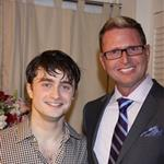 Daniel Radcliffe backstage after a performance of How To Succeed In Business Without Really Trying on Broadway 81773