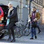 Daniel Craig in Stockholm working on The Girl With The Dragon Tattoo 70066