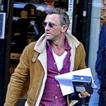 Daniel Craig in Stockholm working on The Girl With The Dragon Tattoo 70070