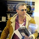 Daniel Craig in Stockholm working on The Girl With The Dragon Tattoo 70075