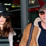 A smiling Daniel Craig arrives in Paris with Rachel Weisz  101665